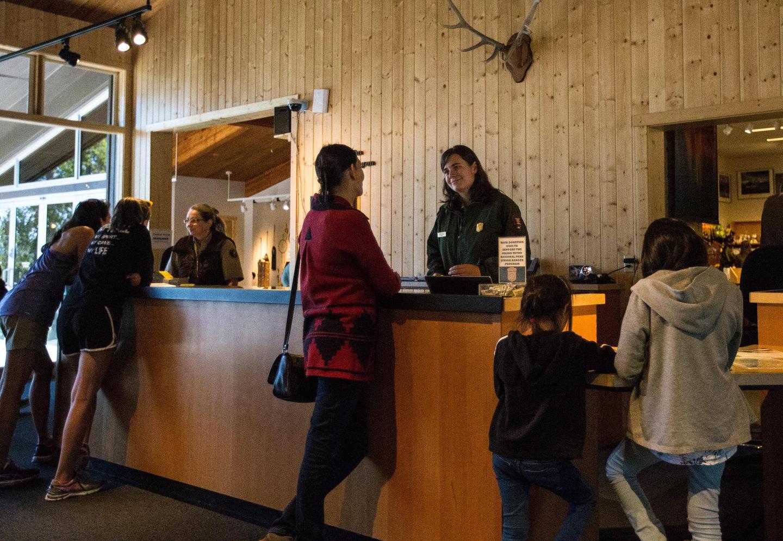 Ranger Desk at the Colter Bay Visitor Center