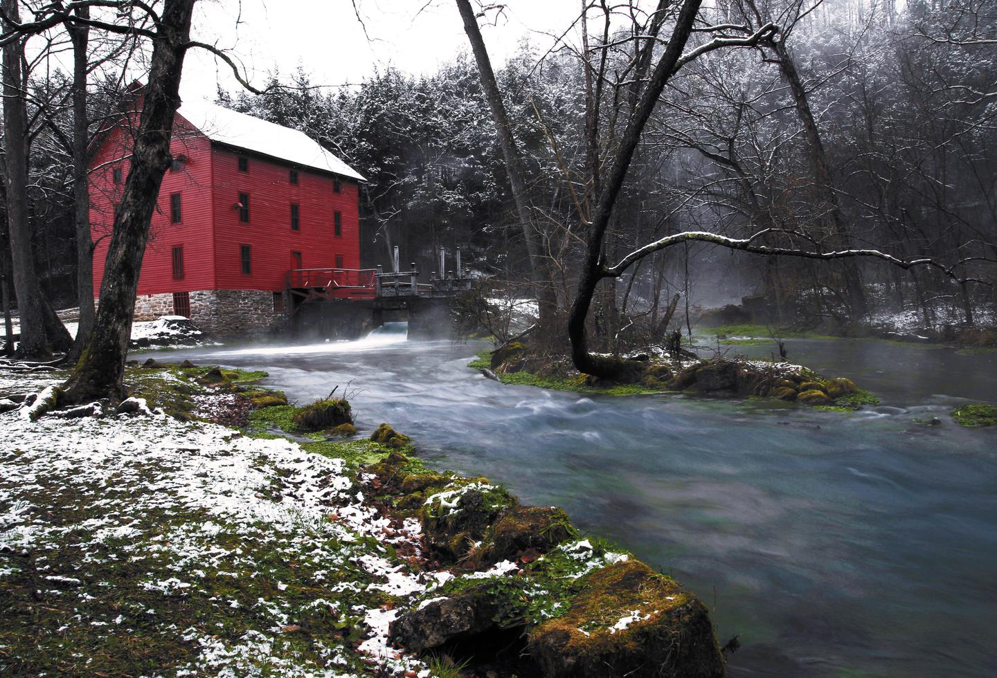 Alley Mill-WinterAlley Mill is a popular destination.
