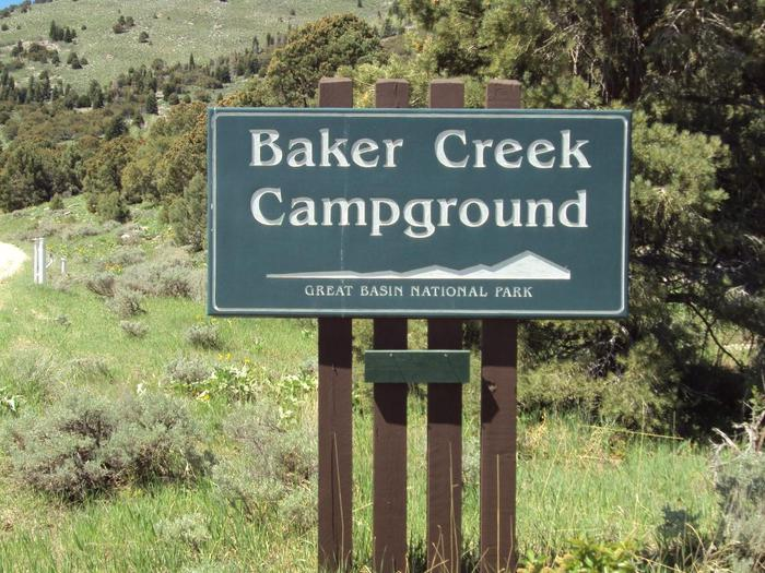 Baker Creek Campground SignBaker Creek Campground is located on the Baker Creek Road