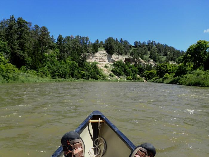 Relaxing canoeing on the Niobrara NSRMuch of the Niobrara National Scenic River is easy paddling, suitable for novice canoers.
