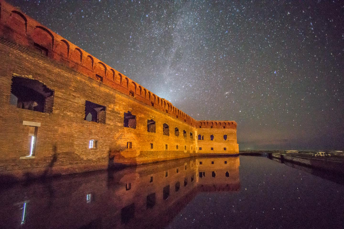 Night sky at the Dry TortugasThe Dry Tortugas is so remote that night sky viewing is possible.
