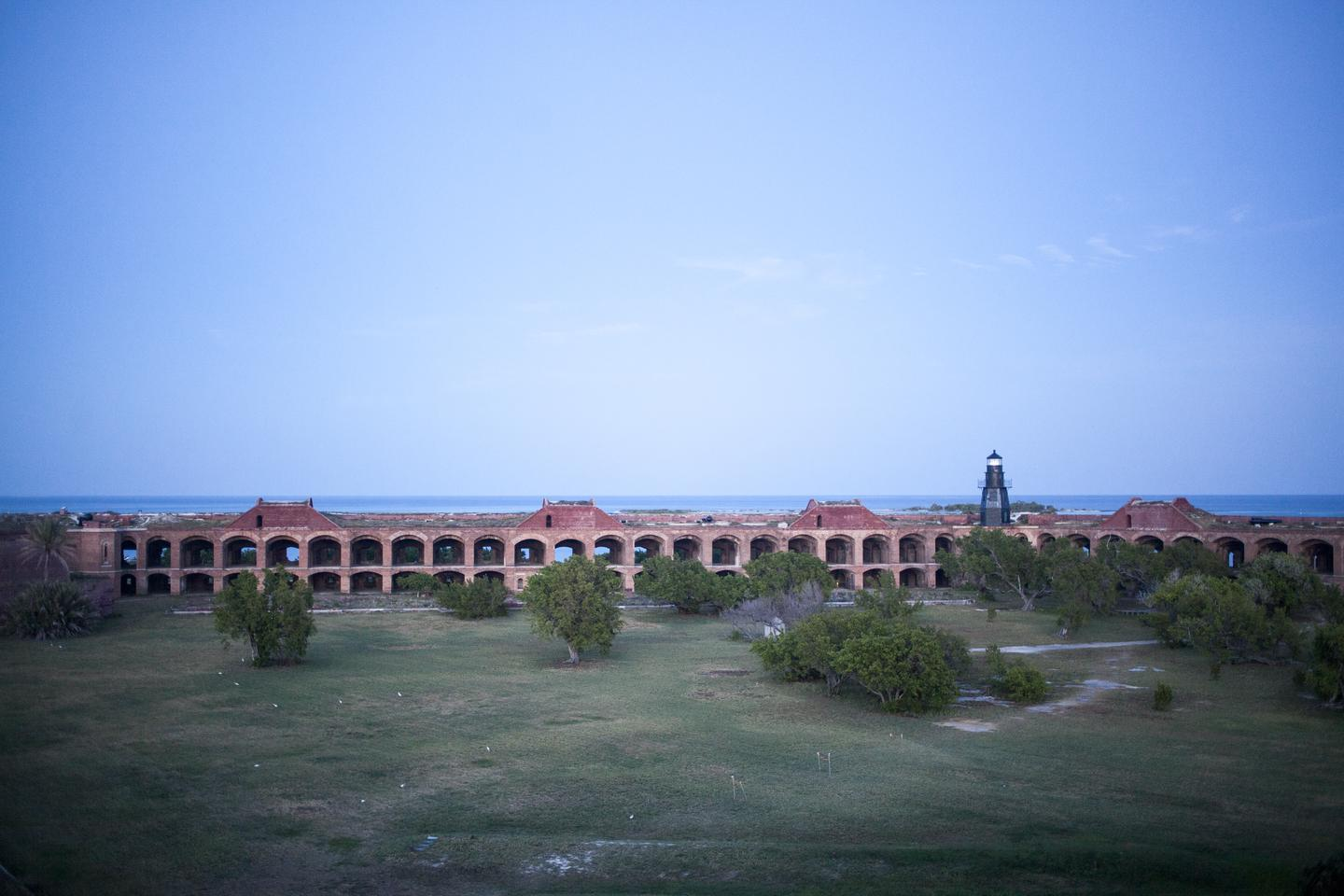 Inside Fort JeffersonGarden Key is the second largest island in the Dry Tortugas, about 14 acres in size, and has had the most human impact. Located on Garden Key is historic Fort Jefferson, one of the nation's largest 19th century forts and a central cultural feature of Dry