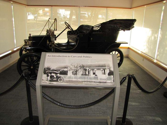 A Model T Ford ExhibitExhibits discuss the life and legacy of President Johnson.
