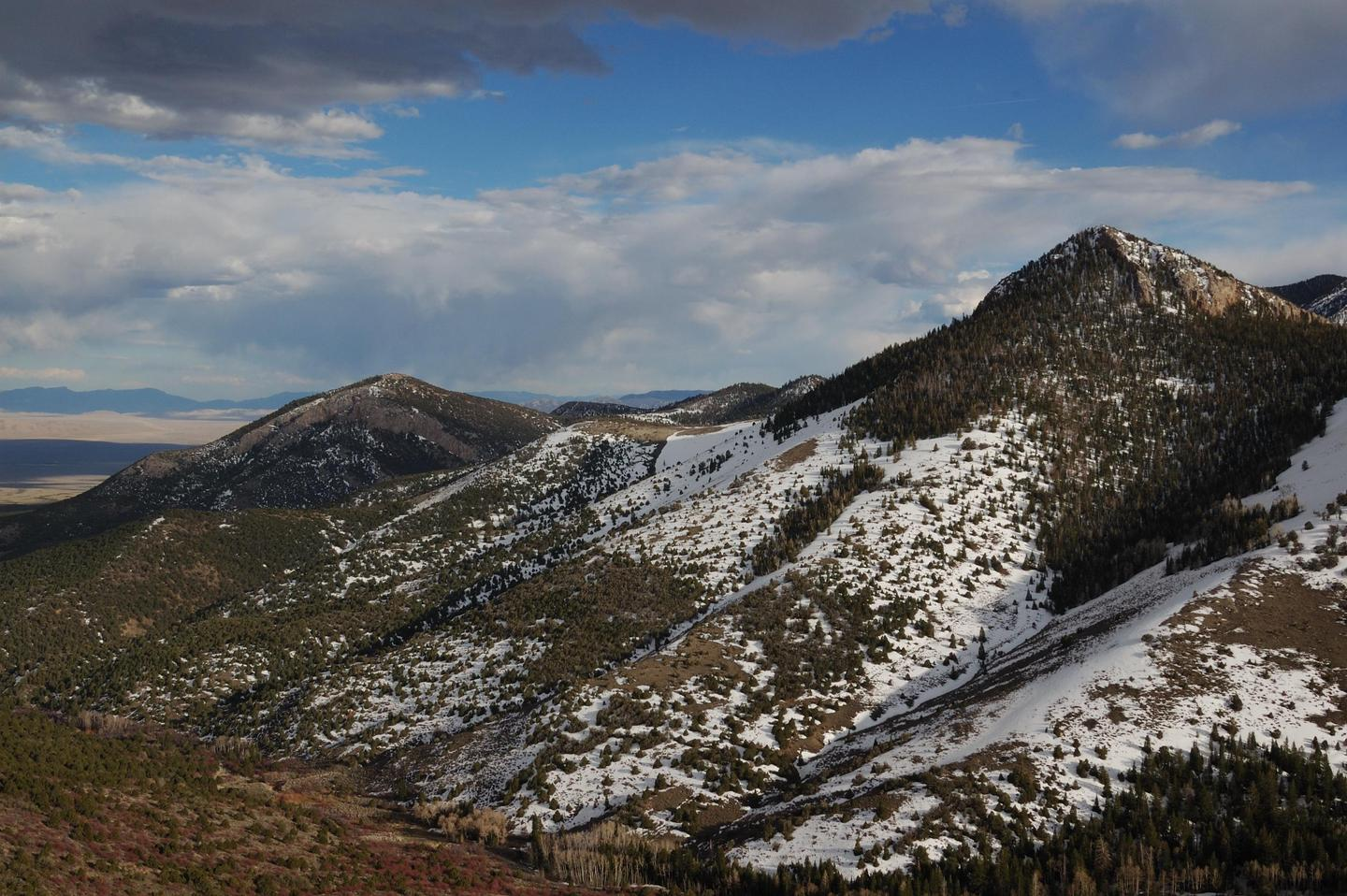Snow Covered MountainsSnow can come early, even in the fall at Great Basin.