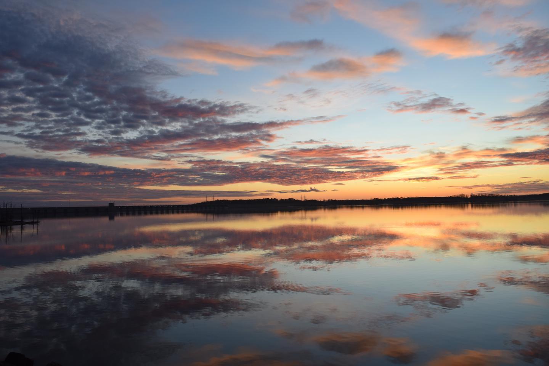 John H. Kerr Dam and ReservoirWhat an amazing sunrise captured here on John H. Kerr Reservoir!