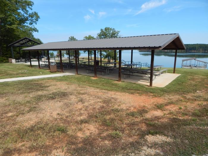 Island Creek ShelterWelcome to Island Creek Park, also known as the Island Creek Wounded Warrior Park. This is a picture of the shelter that can be reserved. This shelter is fully handicap accessible with a handicap accessible vault toilet near by.