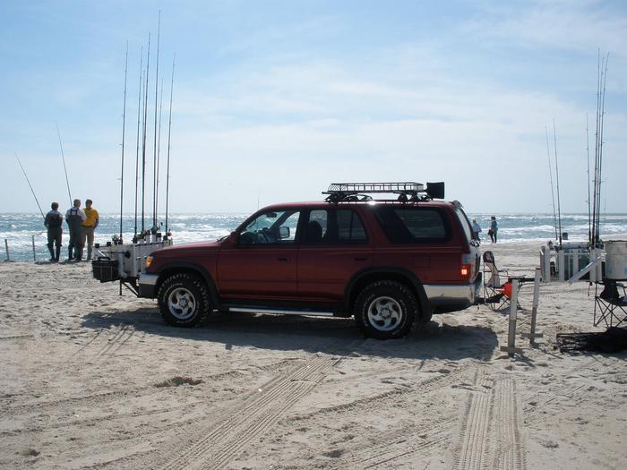 4Runner SUV on beach4Runner SUV parked on beach