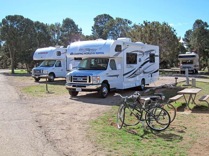 Trailer Village 001Pull through sites allow larger vehicles easy access and exits.