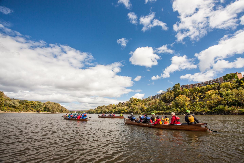 Voyageur CanoesThe park often uses big, safe Voyageur canoes in our programs.