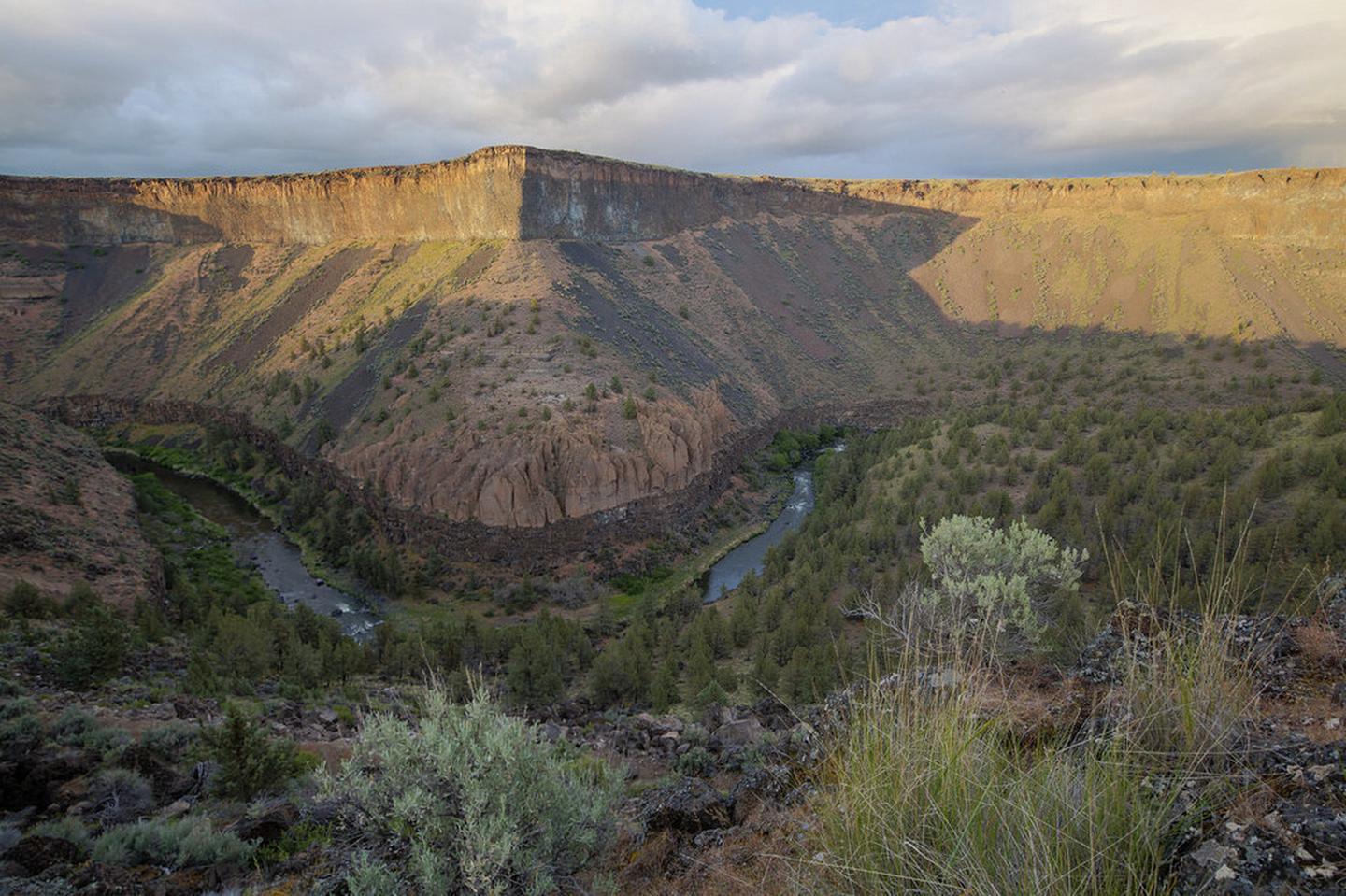 Canyonside view of the Crooked Wild and Scenic river.Canyonside view of the Crooked Wild and Scenic river.