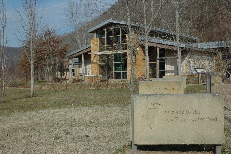 Sandstone Visitor CenterThe Sandstone Visitor Center at New River Gorge National Park and Preserve serves as the primary visitor center for Bluestone National Scenic River.