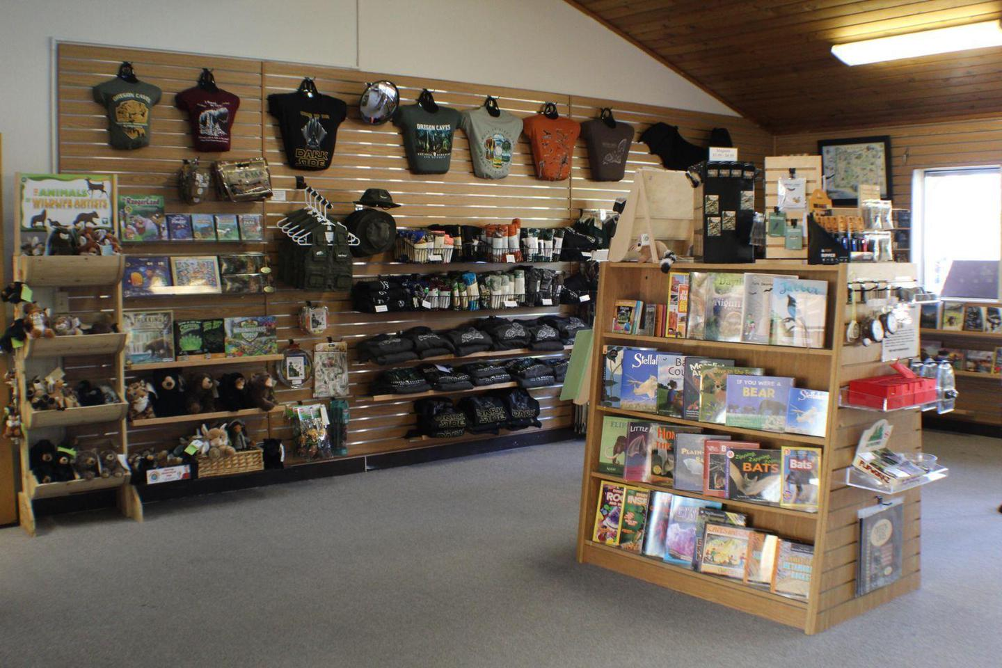 Bookstore in the Illinois Valley Visitor CenterOregon Caves Natural History Association bookstore