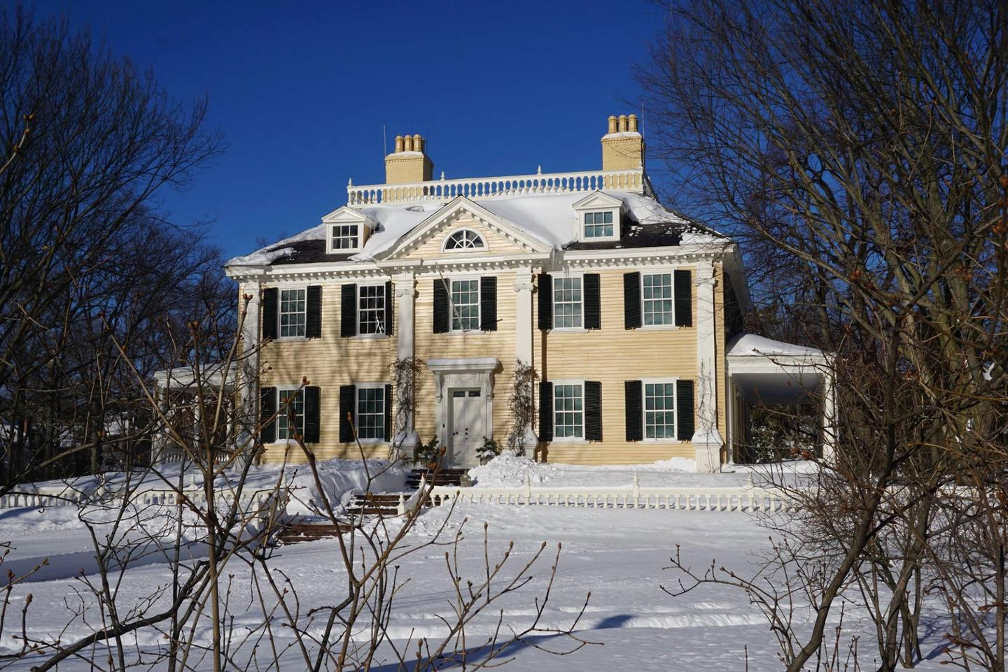 Winter at Longfellow House-Washington's Headquarters National Historic SiteNew fallen snow blankets the historic mansion.