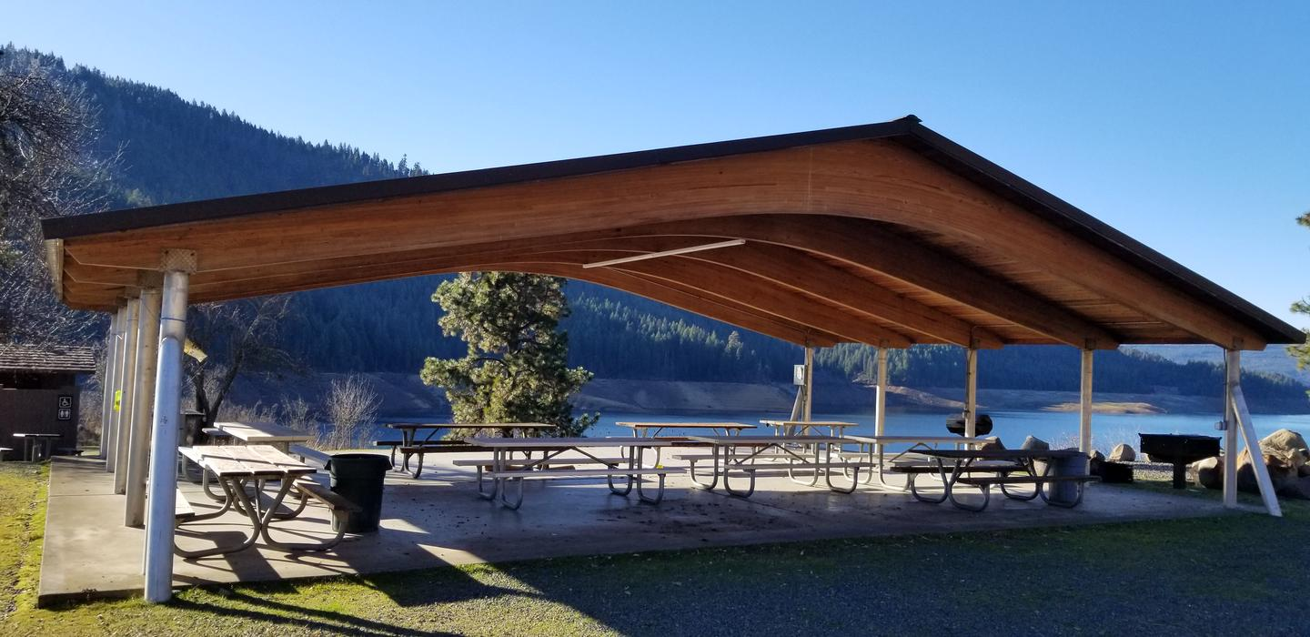 Group Shelter at Dent Group CampDent Group camp