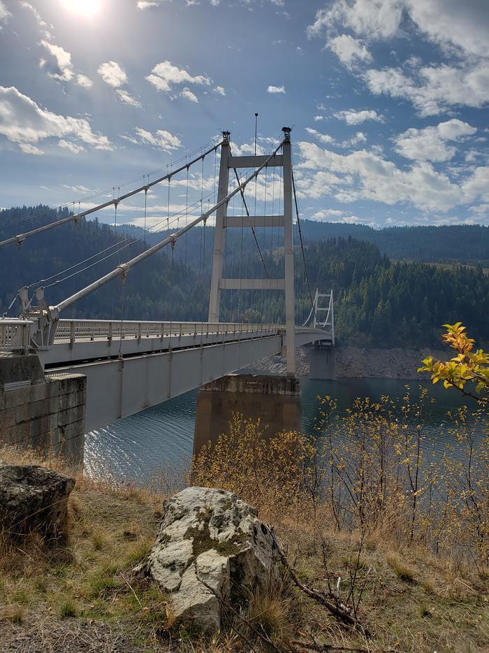 Dent Bridge, the longest suspension bridge in IdahoDent Bridge