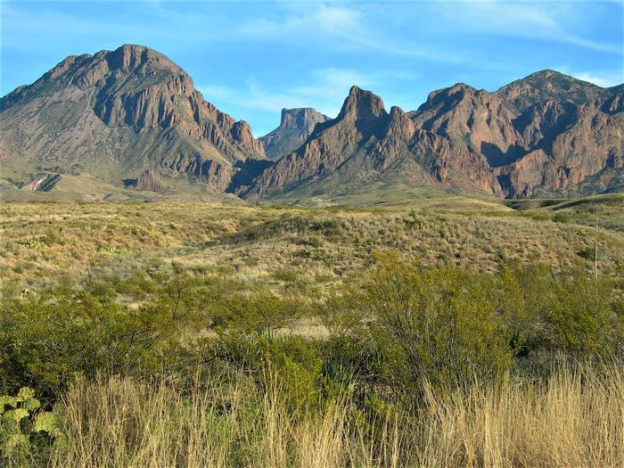 Chisos MountainsThe Chisos Mountains rise above the desert