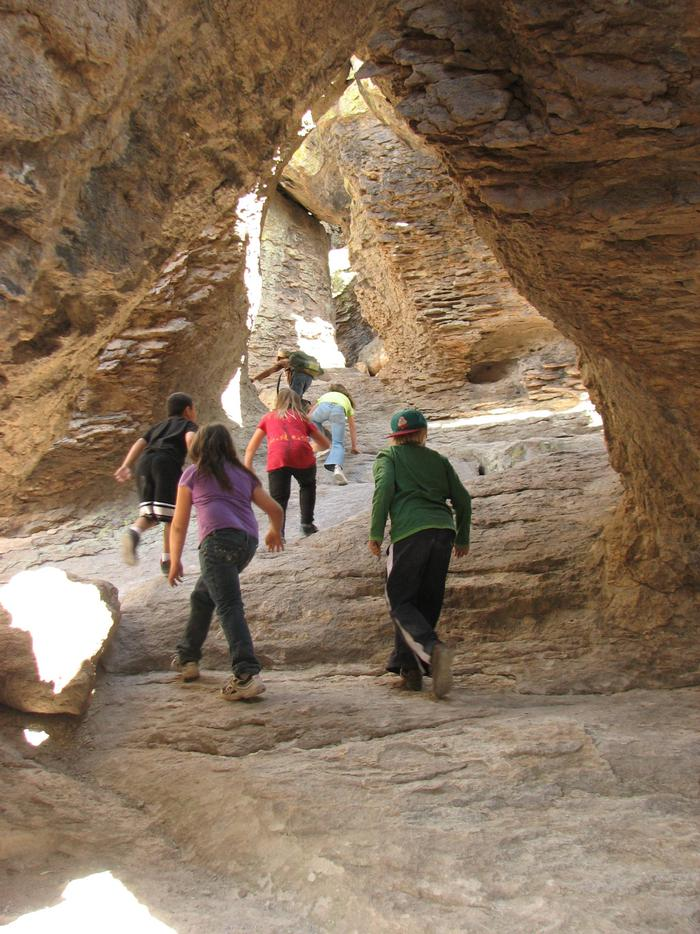 Echo Canyon GrottoThe standing rocks at Chiricahua create natural nooks and crannies ready to be explored