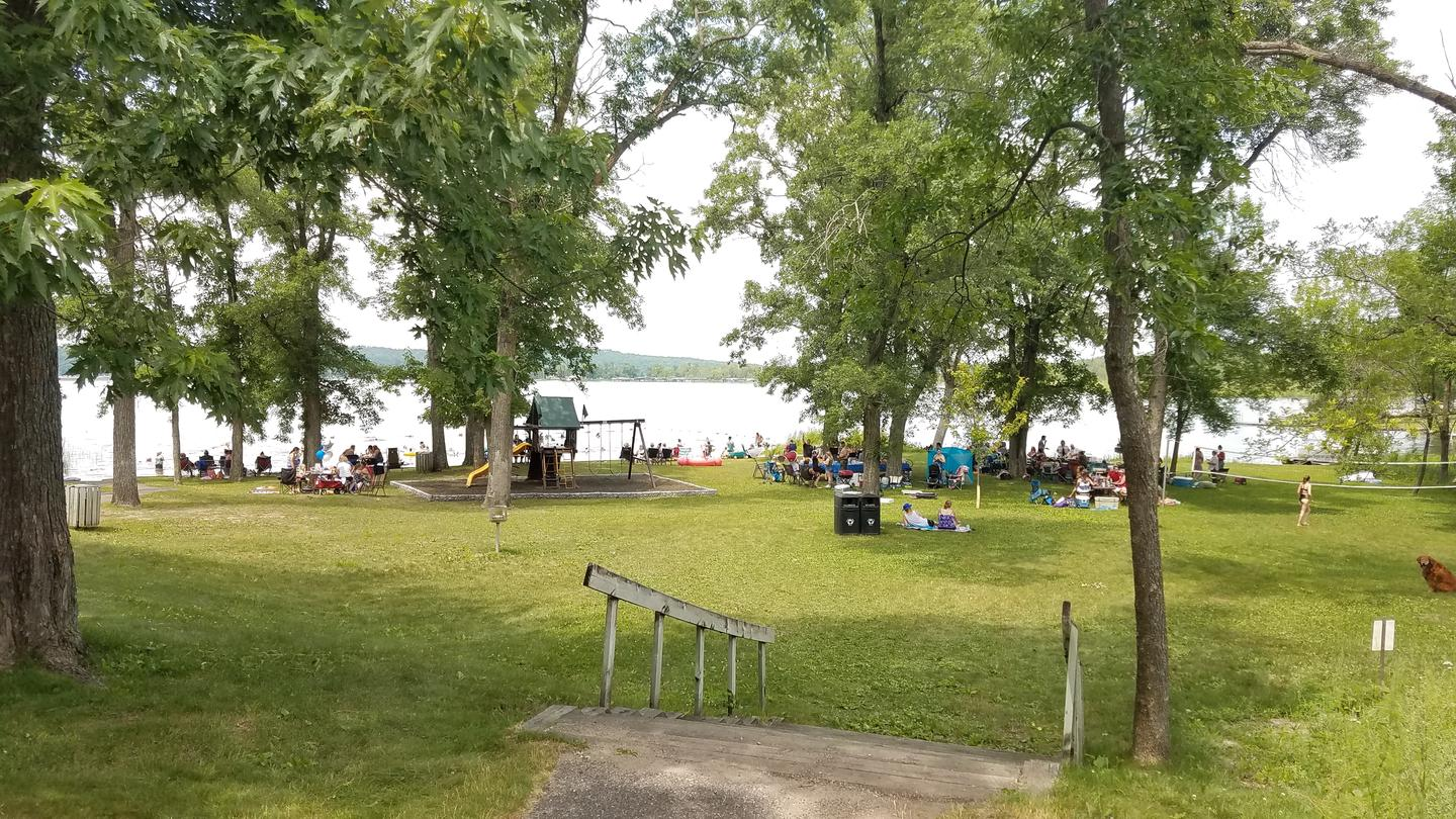 Swimming and picnicking Swimming beach and picnic area use during a holiday weekend