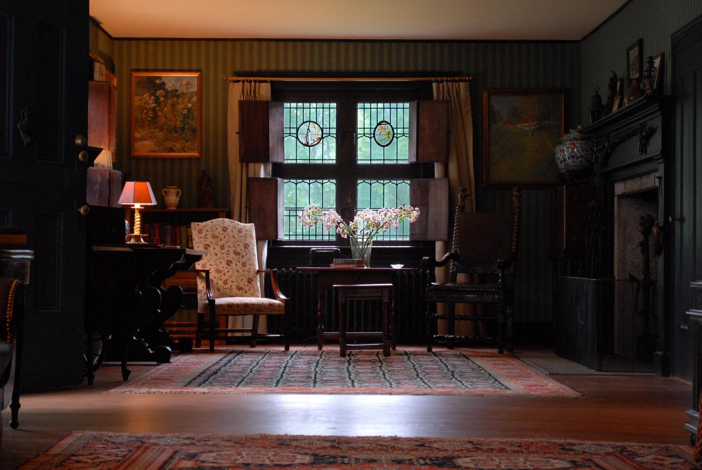 Living Room of the Weir HouseWeir House tours are offered seasonally, Wednesday through Sunday.