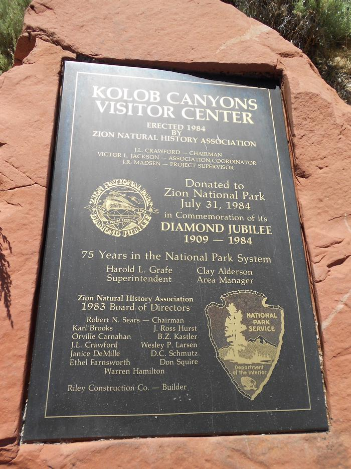 Kolob Canyons Visitor Center