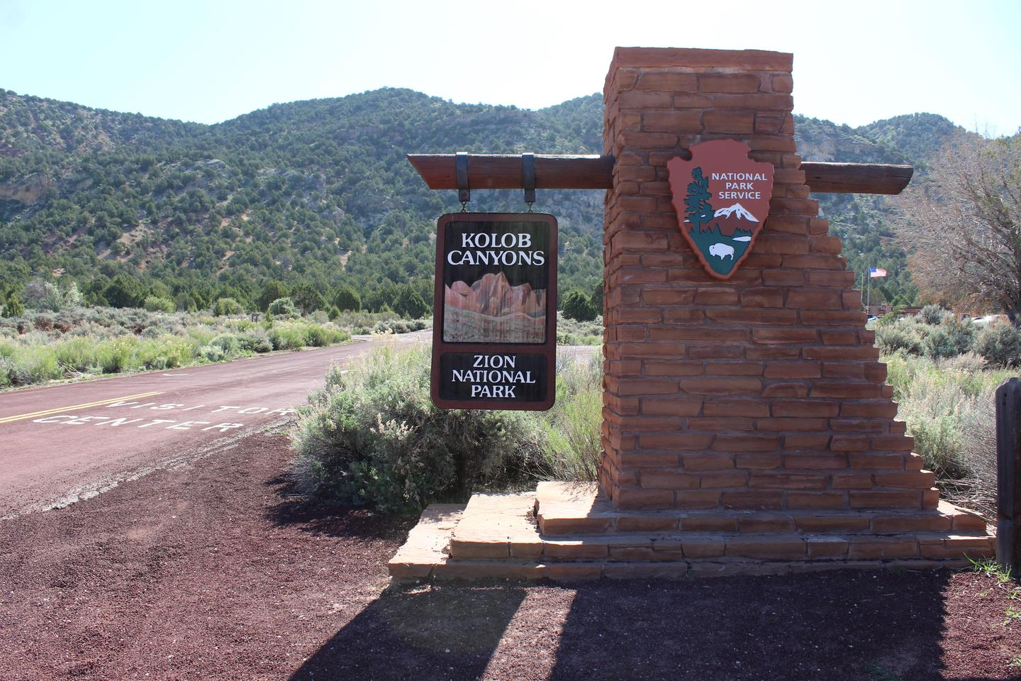 Kolob Canyons Entrance SignThe Kolob Canyons Entrance Monument is near the visitor center.