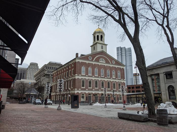 Faneuil HallFaneuil Hall Visitor Center is located on the first floor of Historic Faneuil Hall