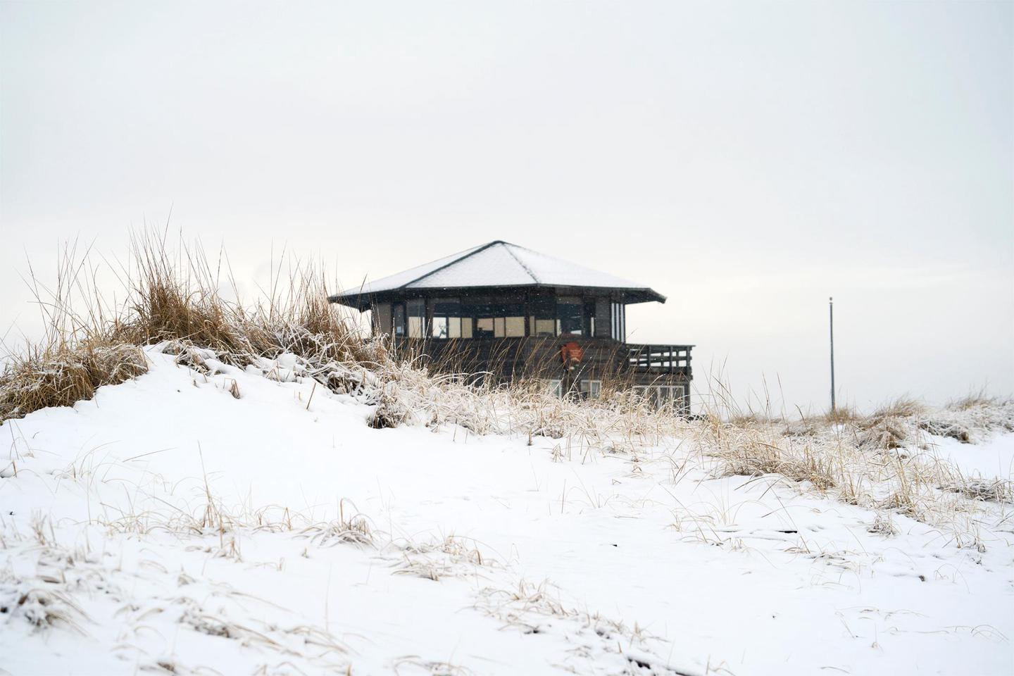 The Wilderness Visitor Center in winterThe Wilderness Visitor Center welcomes visitors to the Otis Pike High Dune Wilderness on the east end of Fire Island.