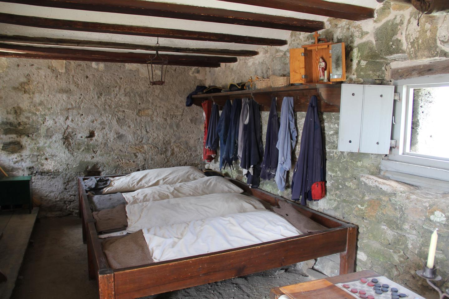 Soldier's QuartersThe few enlisted soldiers at Fort Matanzas shared a small, sparse room as living space.