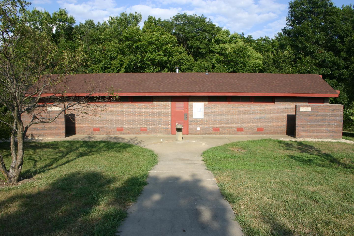 Bloomington West Shower/RestroomThe Bloomington West group camp features a large restroom and shower facility