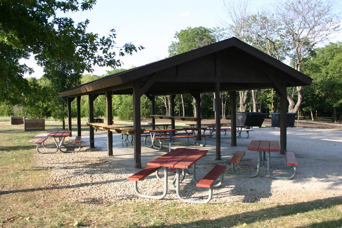 Bloomington West Park Campground sheltera shelter and numerous picnic tables are located within the Bloomington West campground