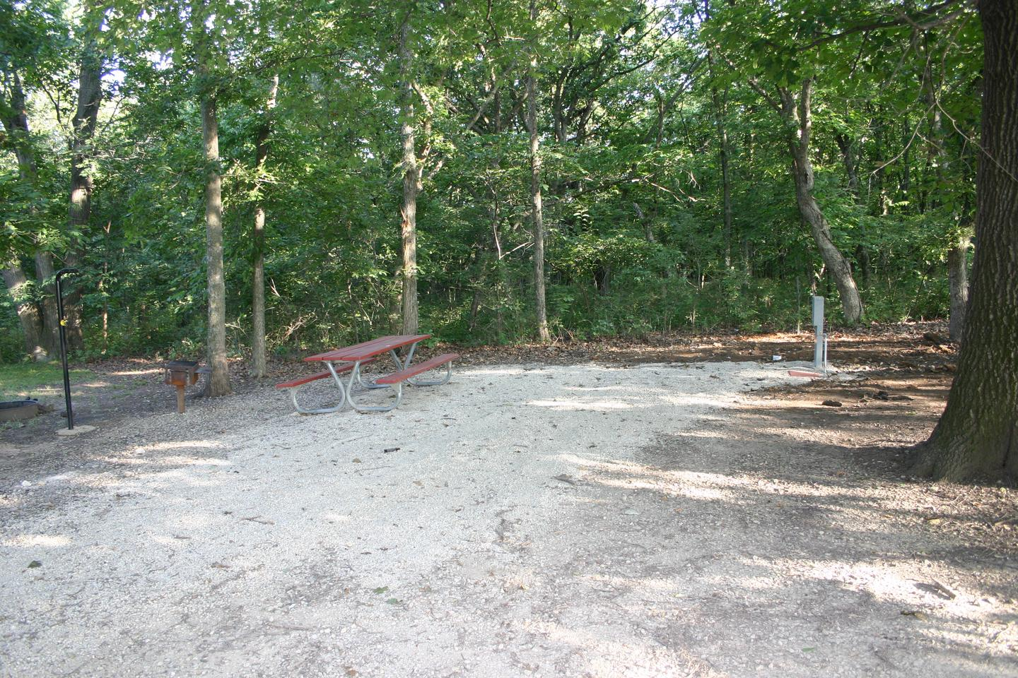 Bloomington West Park Campground example siteThe Bloomington West group campground features 4 electric sites and many additional non-electric sites with all the basic campsite ammenities