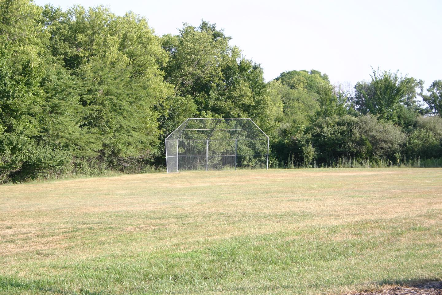 Bloomington West Park Campground softball fieldA softball field is located at the south end of the camping area
