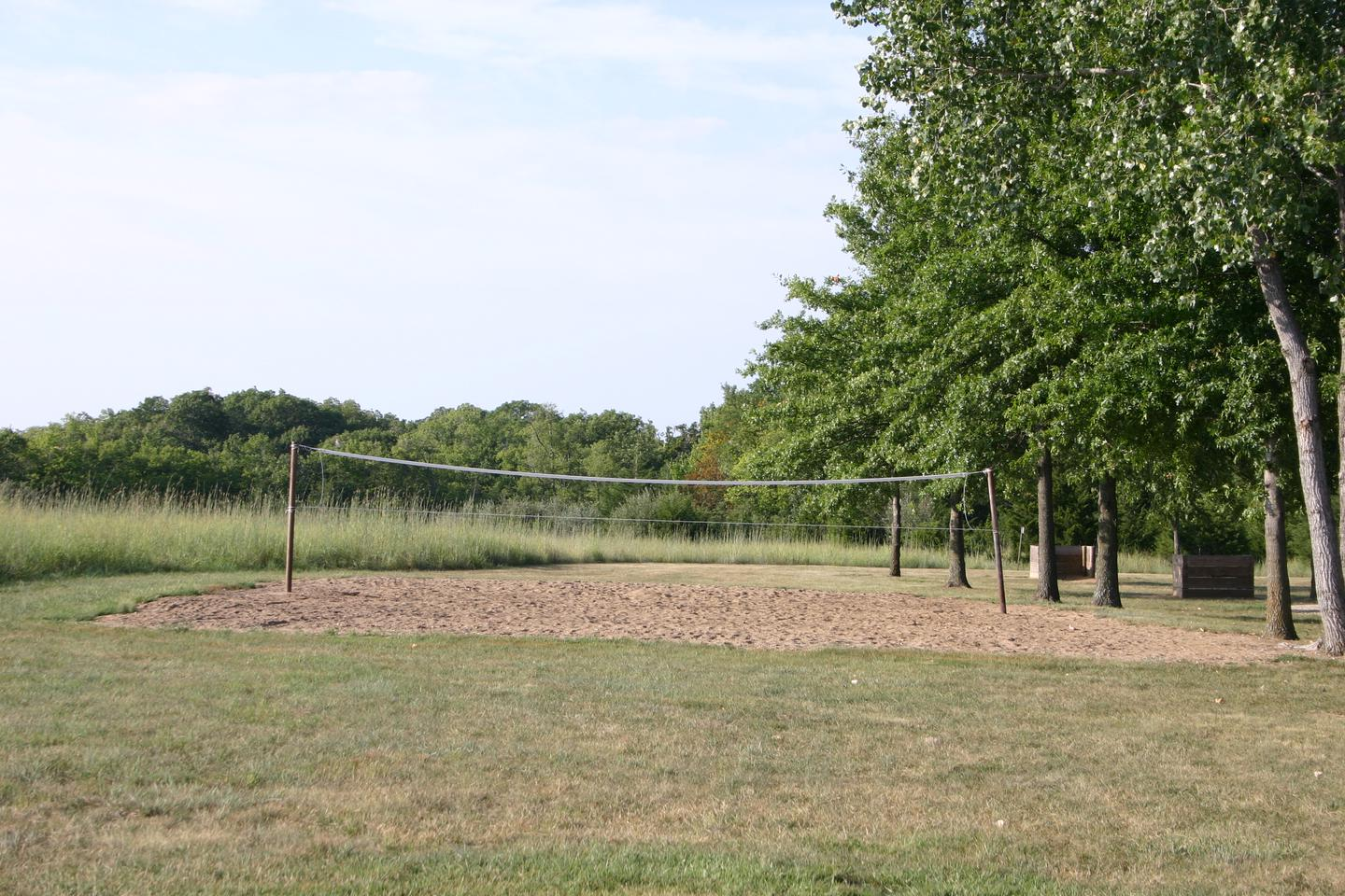 Bloomington West Park Campground sand volleyball courta sand volleyball court is located at the west end of the camping area near the shelter