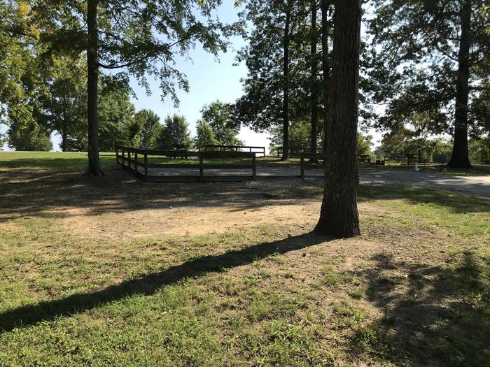 WILLOW GROVE CAMPGROUND SITE #57 DESIGNATED TENT LOCATION WTIH PARKING IN BACKGROUNDWILLOW GROVE CAMPGROUND SITE #57