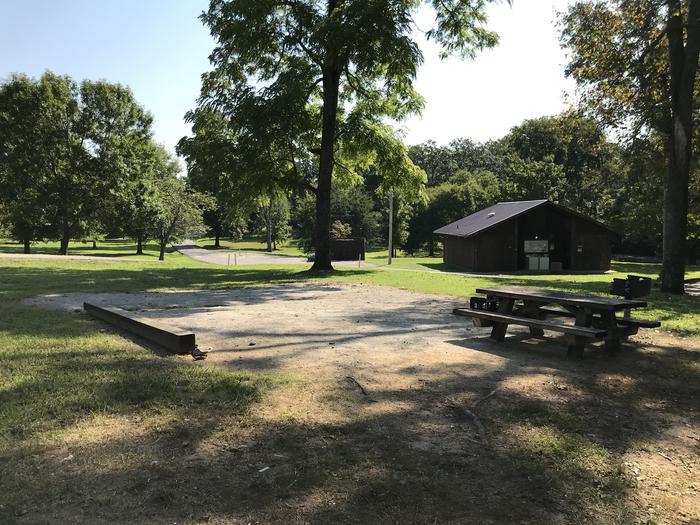 WILLOW GROVE CAMPGROUND SITE #70 GRAVEL TENT PAD AND TABLEWILLOW GROVE CAMPGROUND SITE #70