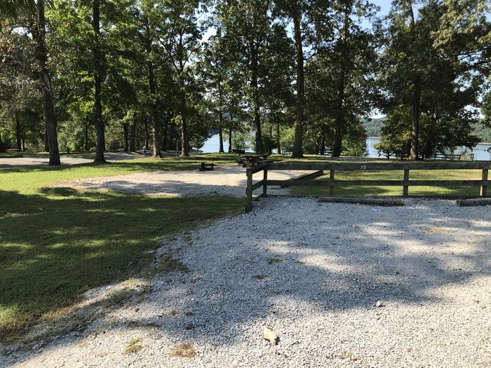 WILLOW GROVE CAMPGROUND SITE #70 GRAVEL SHARED PARKING WITH SITE IN BACKGROUNDWILLOW GROVE CAMPGROUND SITE #70