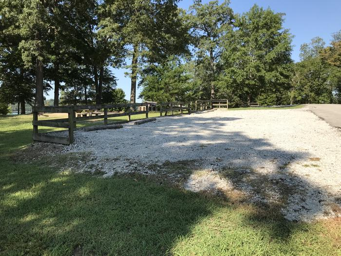 WILLOW GROVE CAMPGROUND SITE #70 SIDE VIEW OF SHARED PARKINGWILLOW GROVE CAMPGROUND SITE #70