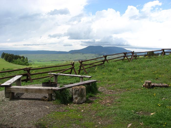 Fire ring and benches at PorcupineViews to the southwest of Porcupine