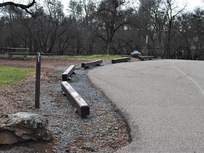 Acorn Campground Site 31 ParkingPull through parking slip