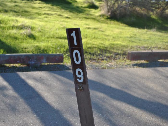 Acorn Campground Site 109Carsonite Site Marker