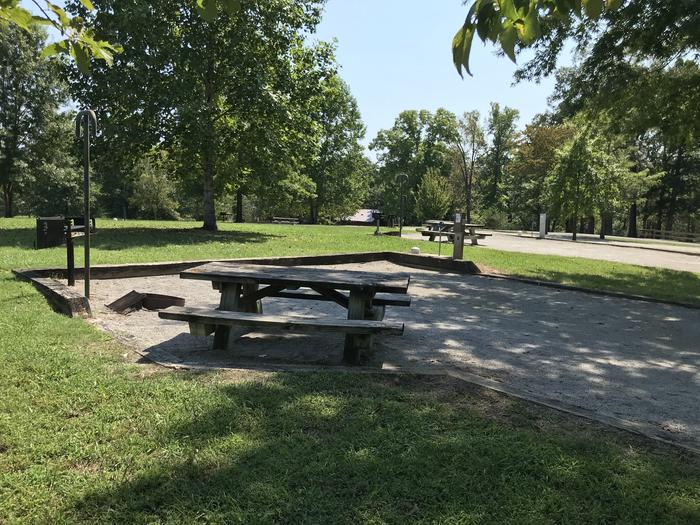 WILLOW GROVE CAMPGROUND SITE #82 LIVING AREA WITH TABLE AND GRILLSWILLOW GROVE CAMPGROUND SITE #82