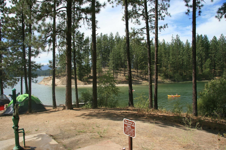 Cloverleaf Campground 2Lake view campsite at Cloverleaf Campground.