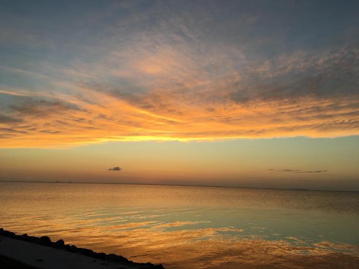 Sunset from Elliott KeyWatch spectacular sunsets from the shoreline at Elliott Key