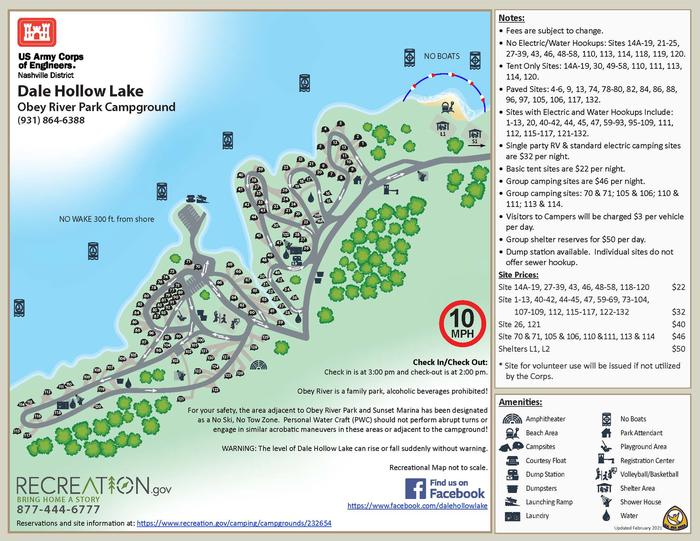 OBEY RIVER PARK CAMPGROUND MAP