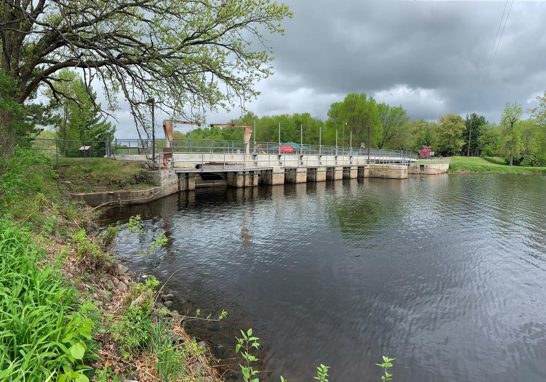 Upstream of the Sandy Lake Dam