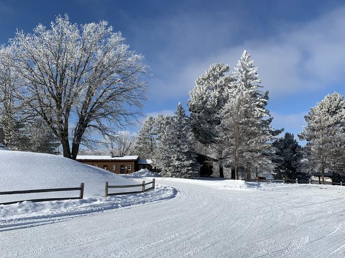 Winter at the Sandy Lake Dam