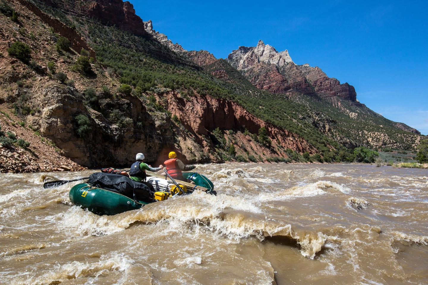 Floating RapidsRapids like those in Split Mountain Canyon challenge and thrill rafters on the Green River.