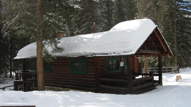 Mill Creek Cabin in winterMill Creek Cabin covered in snow