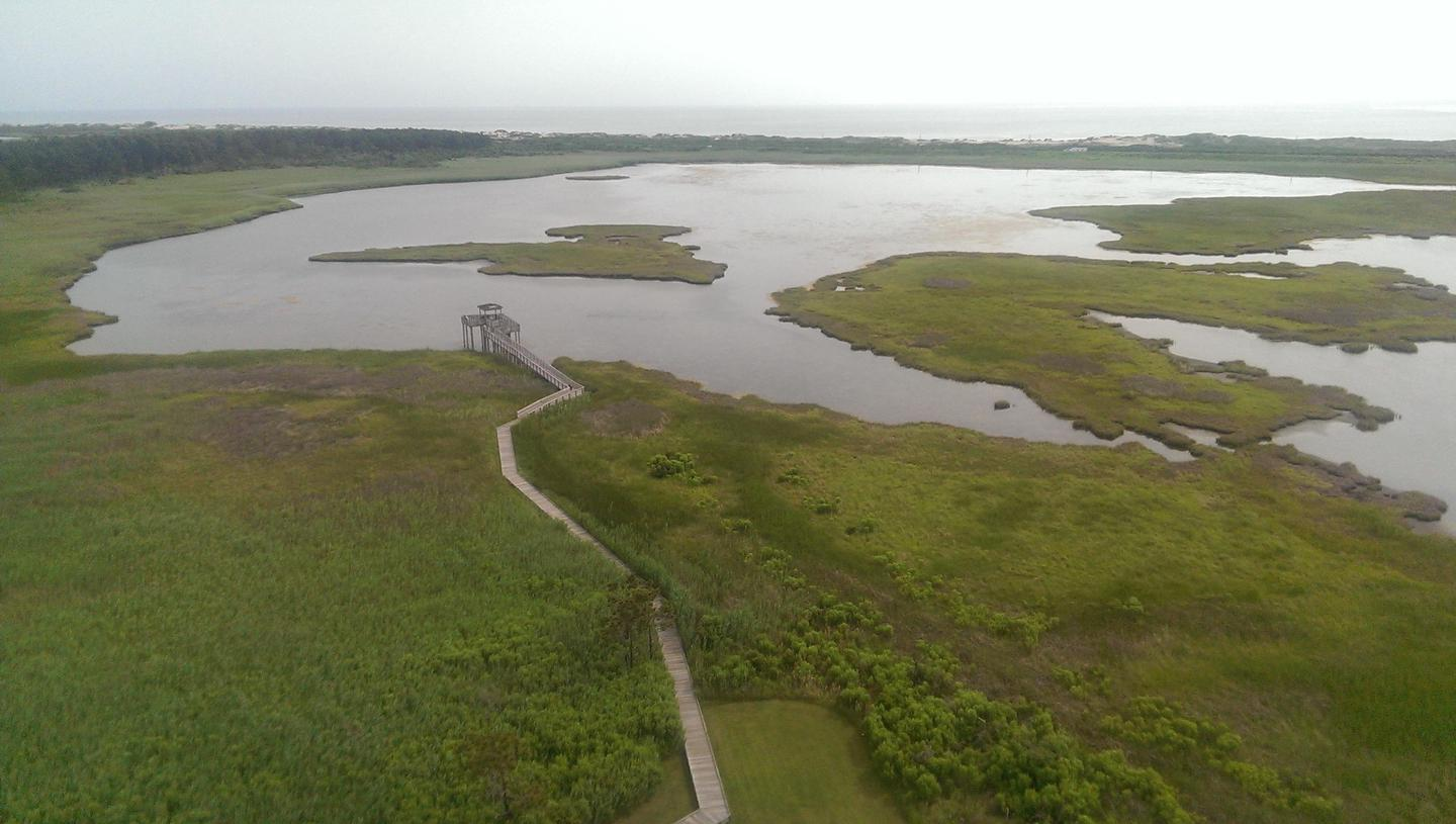 BI TrailThe Bodie Island Nature Trail is next to the visitor center
