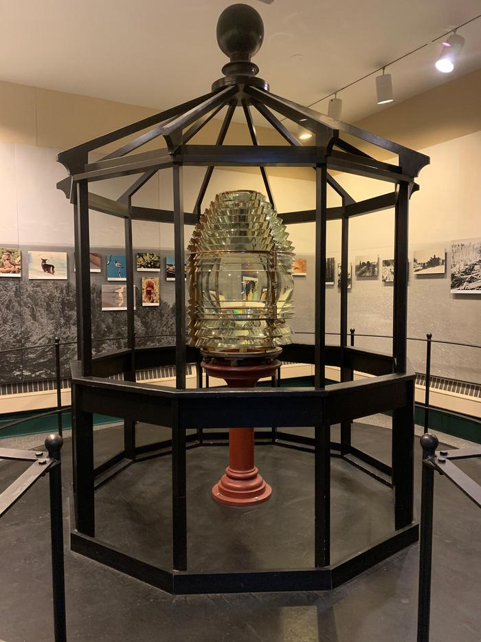 Fresnel LensThe 3½-order Fresnel Lens from Michigan Lighthouse is on display inside the visitor center.